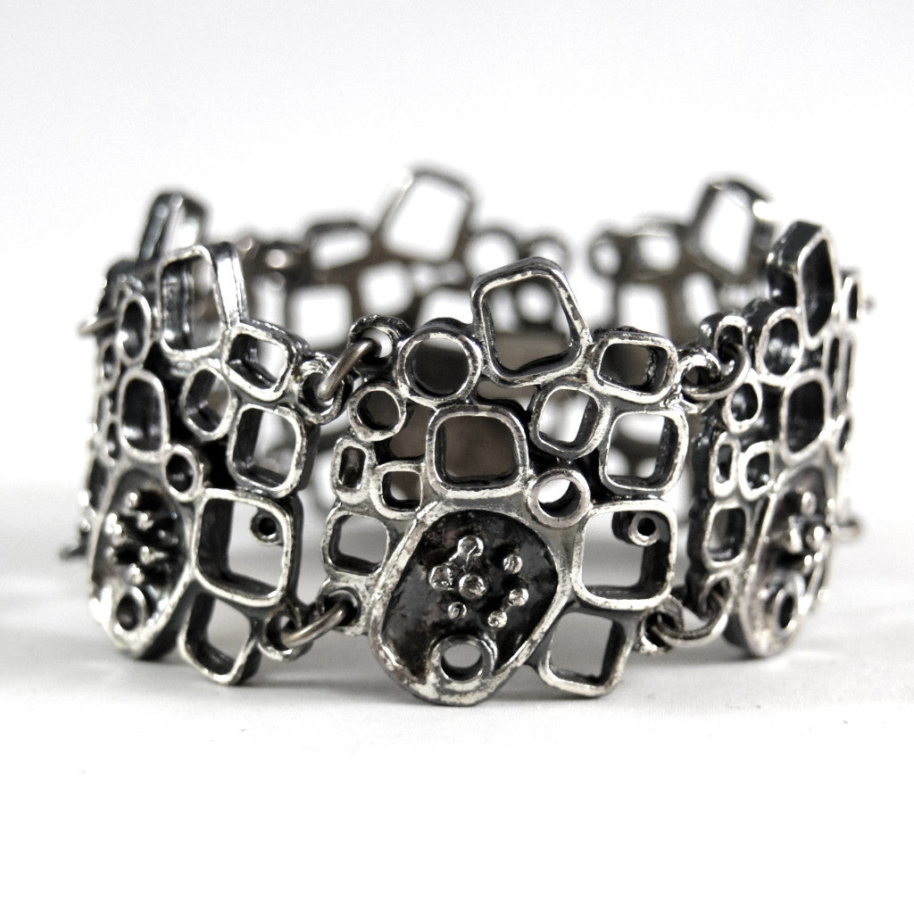 Guy Vidal Link Bracelet -Stacked Cubes