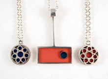 Load image into Gallery viewer, Rare Bernard Chaudron Necklace - Geometric Embedded Circle