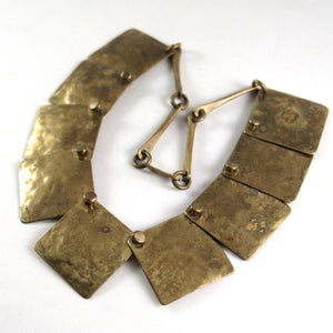 Joseph Boris Brass Necklace - Layered Squares