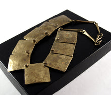 Load image into Gallery viewer, Joseph Boris Brass Necklace - Layered Squares