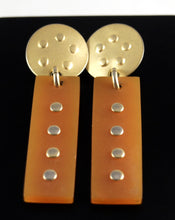 Load image into Gallery viewer, Martha Sturdy Earrings - Orange Resin