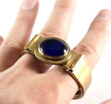 Load image into Gallery viewer, Rafael Canada Clamper Bracelet - Blue Glass