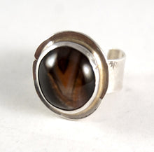 Load image into Gallery viewer, Rare Rafael Canada Ring - Sterling Silver - Banded Agate