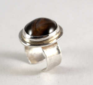 Rare Rafael Canada Ring - Sterling Silver - Banded Agate