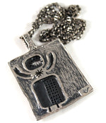 Load image into Gallery viewer, Rare Guy Vidal Spaceman Necklace - Cosmic Modernist