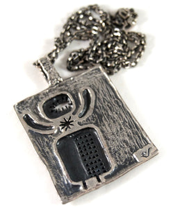 Rare Guy Vidal Spaceman Necklace - Cosmic Modernist