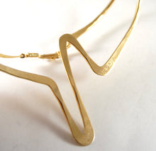 Load image into Gallery viewer, Richard Lawless Collar Necklace - Bronze Zig Zag