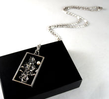 Load image into Gallery viewer, Guy Vidal Framed ShadowBox Necklace - Brutalist Pearl
