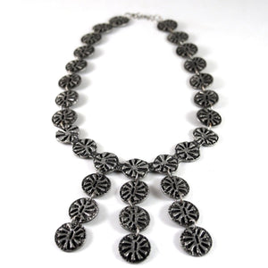 Rare Robert Larin Bib Necklace - Stars - Modernist Brutalist