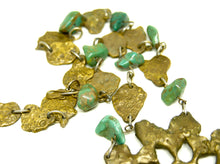 Load image into Gallery viewer, Massive Anne Dick Necklace - Turquoise Bronze