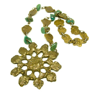 Massive Anne Dick Necklace - Turquoise Bronze