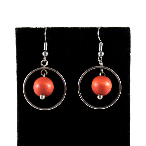 Aarikka Kinetic Earrings - Modernist Finland
