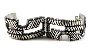 Early Robert Larin Bracelet - Cutouts and Lines - Modernist