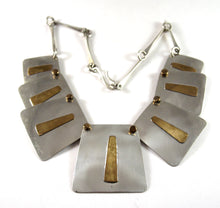 Joseph Boris Mixed Metal Necklace - Modernist