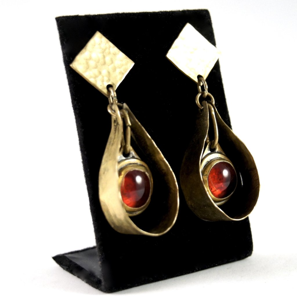 Rare Rafael Alfandary Earrings - Large Modernist Kinetic