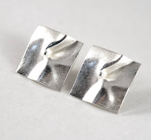 Lapponia Earrings - Modernist Silver - Bjorn Weckstrom - Shield Design
