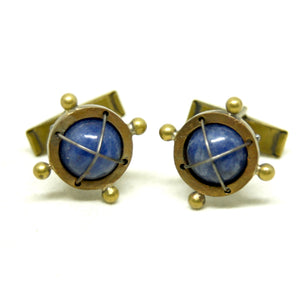 Thomas Mann Cufflinks - Caged Lapis