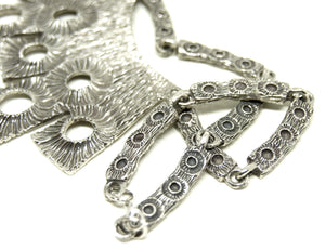 Large Robert Larin Bib Necklace - Moon Surface
