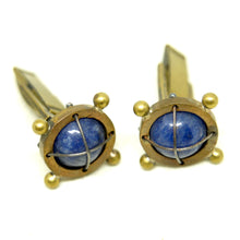 Load image into Gallery viewer, Thomas Mann Cufflinks - Caged Lapis