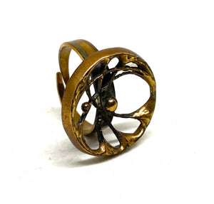 Finnish Spider Web Ring - Modernist Nordic - Sten Laine