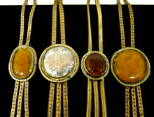 Load image into Gallery viewer, Rafael Canada Lariat Necklace - Oblong Orange Glass - Kinetic