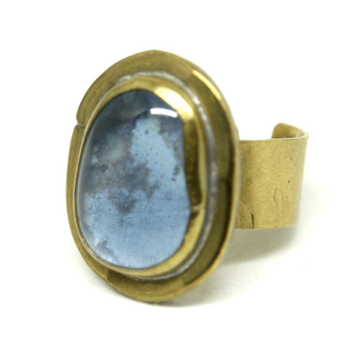Rafael Alfandary Ring - Sky Blue - Brass
