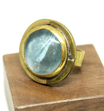 Load image into Gallery viewer, Rafael Alfandary Ring - Round Sky Blue - Brass