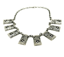 Load image into Gallery viewer, Rare Robert Larin Bib Necklace - In the Woods- Modernist Brutalist
