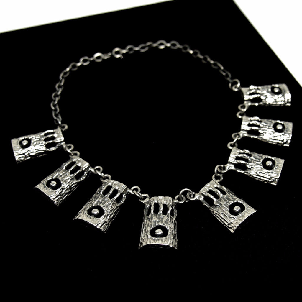 Rare Robert Larin Bib Necklace - In the Woods- Modernist Brutalist