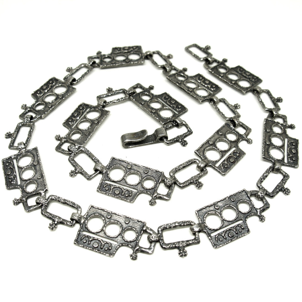 Guy Vidal Chain Belt - Brutalist - Textured Links