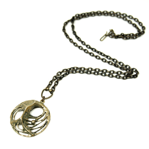 Bronze Karl Laine Web Necklace - Modernist Nordic