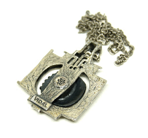 Guy Vidal Necklace - Futuristic Machine - Brutalist Modernist