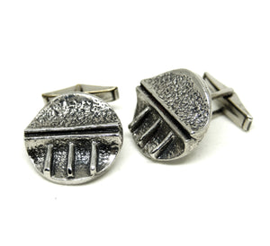 Robert Larin Cufflinks -  Textured Grooves