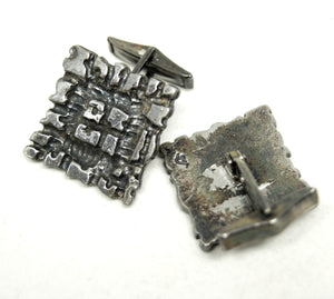 Guy Vidal Cufflinks - Fractured Squares