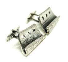 Load image into Gallery viewer, Guy Vidal Cufflinks - Textured Shelves