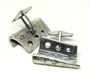 Guy Vidal Cufflinks - Textured Shelves