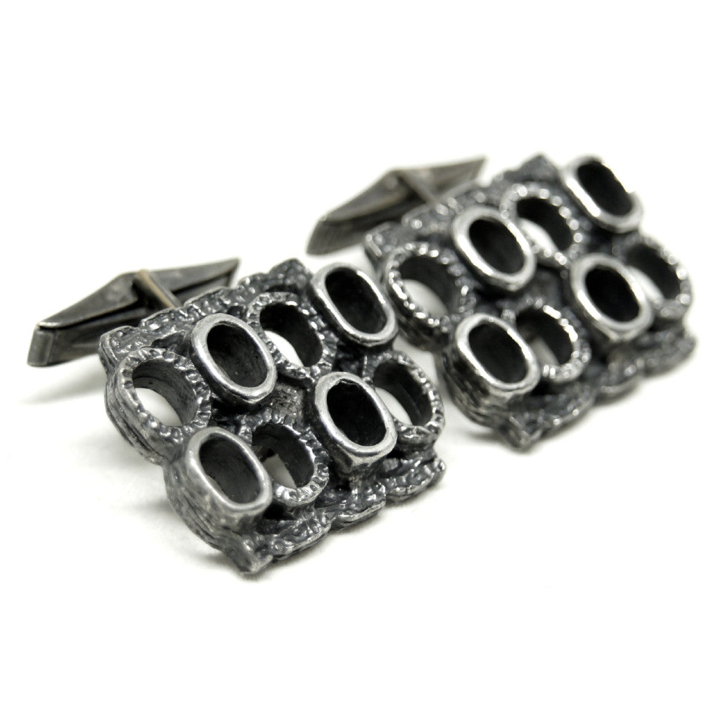 Robert Larin Cufflinks - Textured Ovals