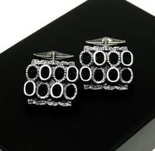 Load image into Gallery viewer, Robert Larin Cufflinks - Textured Ovals