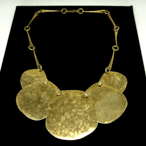 Joseph Boris Brass Necklace - Circular Statement