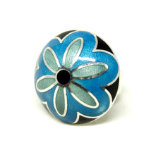 Sterling de Passille Sylvestre Ring - Domed Flower Enamel