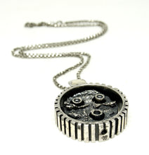 Load image into Gallery viewer, Rare Guy Vidal Robotic Face Necklace - Brutalist Modernist
