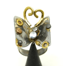 Load image into Gallery viewer, Unique Richard Bitterman Butterfly Ring - Size 7.5