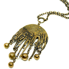 Pentti Sarpaneva Necklace - Rain Drops - Modernist Bronze