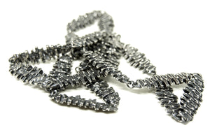Guy Vidal Chain Necklace - Stacked Bricks - Modernist Brutalist