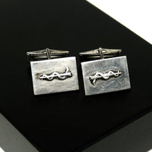 Load image into Gallery viewer, Carl Poul Petersen Sterling Cufflinks - Rod of Asclepius