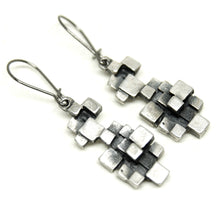 Load image into Gallery viewer, Guy Vidal Cubist Earrings - Modernist Brutalist