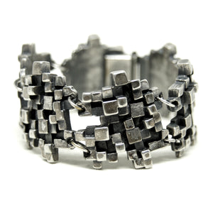 Guy Vidal Cubist Bracelet - Modernist - Stacked Cubes