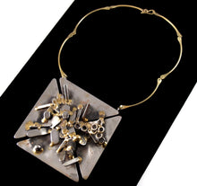 Load image into Gallery viewer, Huge Richard Bitterman Necklace - Brutalist Mixed Metals