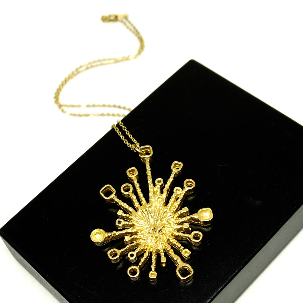 Guy Vidal Starburst Necklace - Brutalist