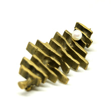 Load image into Gallery viewer, Bernard Chaudron Brooch - Carved Dashes - Modernist